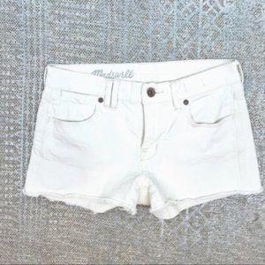 Madewell denim jean shorts white cut offs size 25